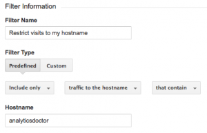 Restricting to hostname